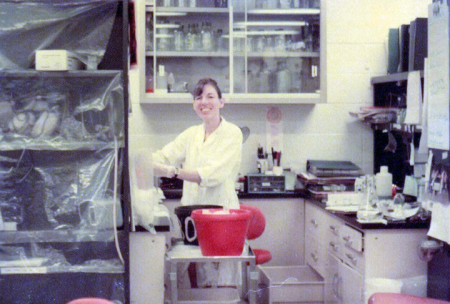 Betsy loved to do her own experiments and kept a personal lab bench for a long time