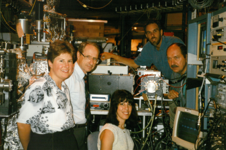 The Omnilyzer team. From left: Lisa Kelly, John, Denise Monteleone, John Trunk, and Krzysztof Polewski, physics professor at Poznan University of Life Sciences, in Poland